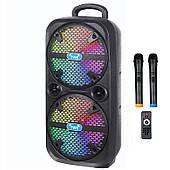 Активна акустична система BIG PRO 220ENCORE USB/MP3/FM/BT/TWS + 2 бездротових мікрофона 220 Ватт
