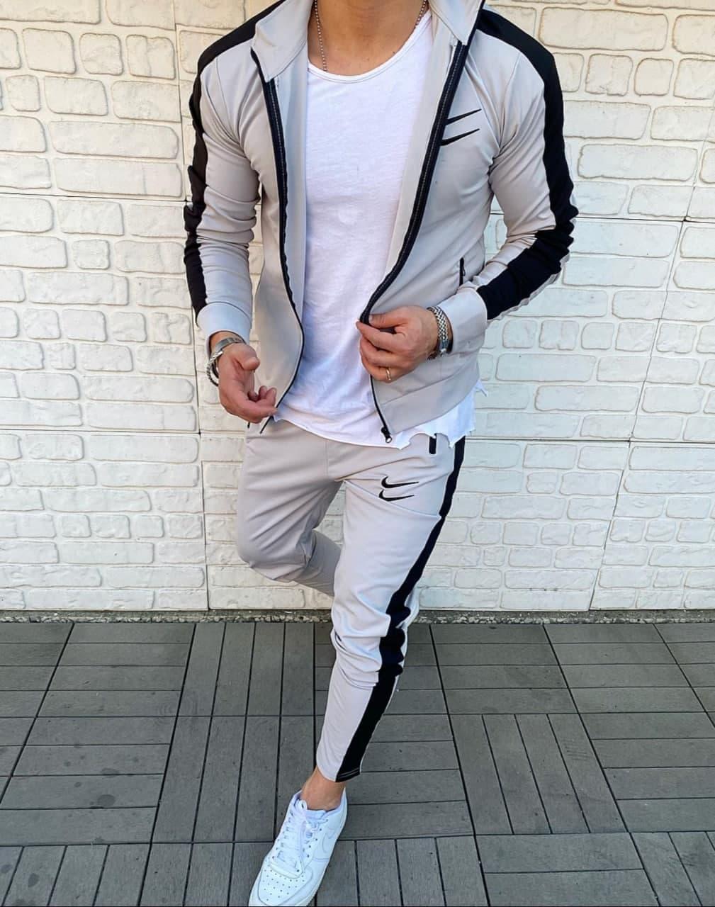 Мужской спортивный костюм Nike Беж/Черный