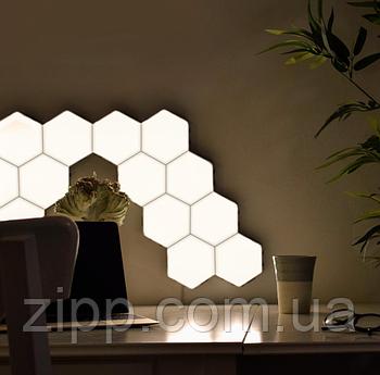 Модульна настінна лампа із пультом 3шт Кольорова   Кольоровий настінний світильник   Світильник сенсорний соти
