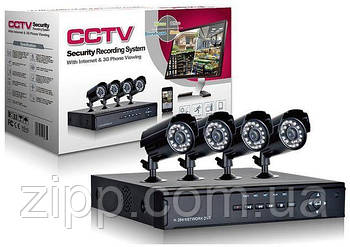 Комплект відеоспостереження DVR HDMI 4 CH Канали H. 264 з 4 камерами| Набір камер відеоспостереження