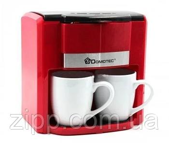 Кофеварка Domotec MS-0705 (500Вт) Красная| Кофеварка Domotec| Кофеварка для дома| Турка для кофе