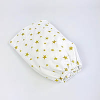 """Дитяча простирадло на гумці в ліжечко BabySoon """"Золоті зірки"""" 120 х 60 см, фото 1"""