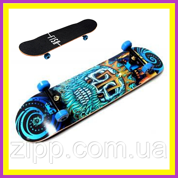 Скейт дерев'яний Fish Skateboard Neptune  Скейтборд  Скейт для катання  Скейтборд трюкової