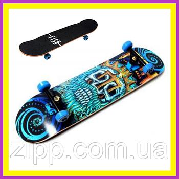 Скейт деревянный Fish Skateboard Neptune| Скейтборд| Скейт для катания| Скейтборд трюковой