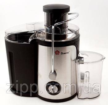 Соковыжималка DOMOTEC MS-5220 | Шнековая соковыжималка с емкостью для сока| Соковыжималка для овощей и фруктов