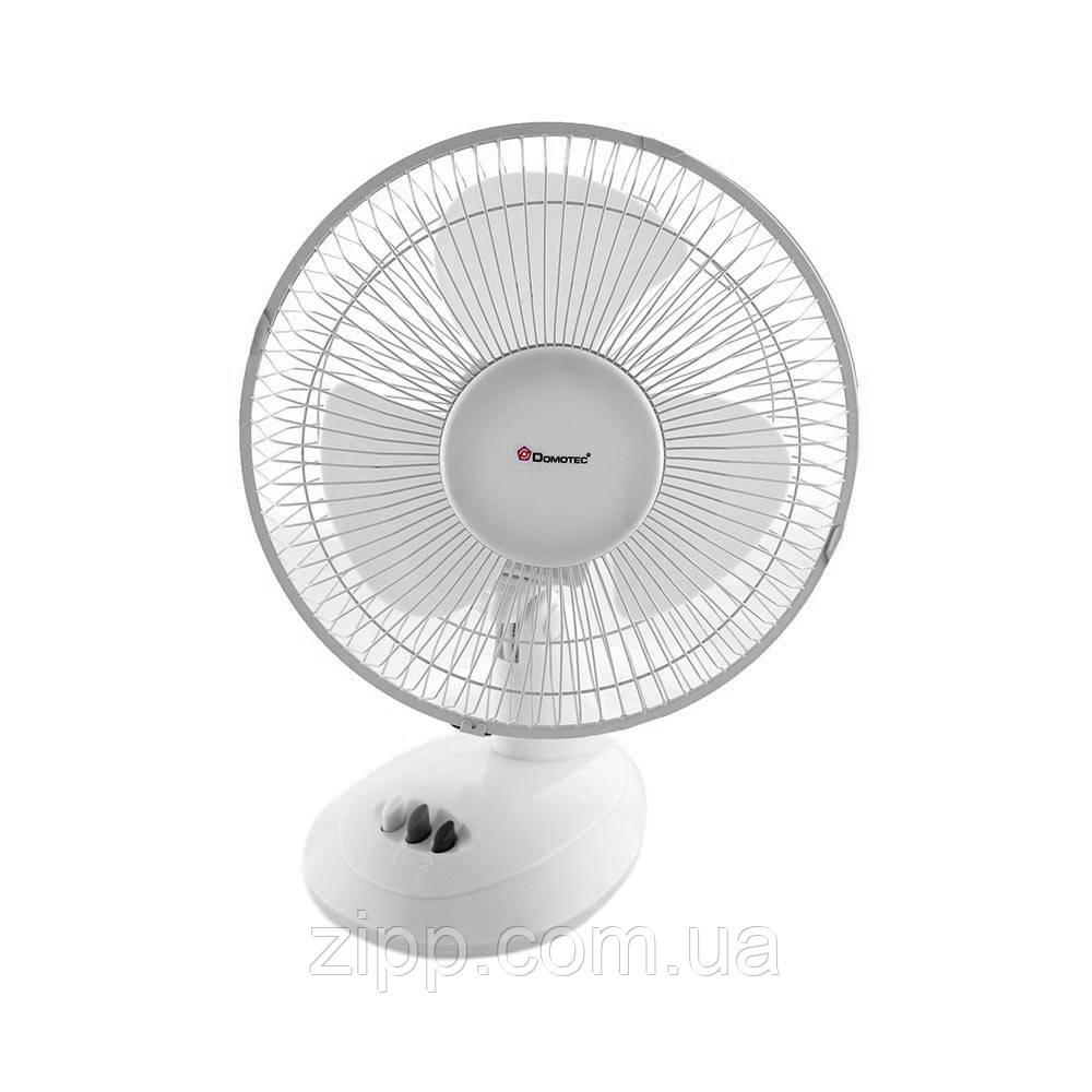 Вентилятор DOMOTEC MS-1624 White/9| Настільний вентилятор| Кімнатний вентилятор| Вентилятор DOMOTEC