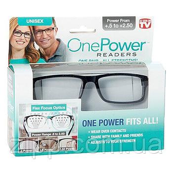 Окуляри для читання One Power Readers  Окуляри для зору  Регульовані окуляри  Збільшувальні очки