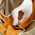 """Муслиновый плед """"Lint"""", коричнево-гірчичний, фото 3"""
