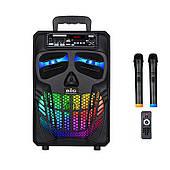 Активная акустическая система BIG PRO 120HALLOWEN USB/MP3/FM/BT/TWS + 2 беспроводных микрофона 120 Ватт