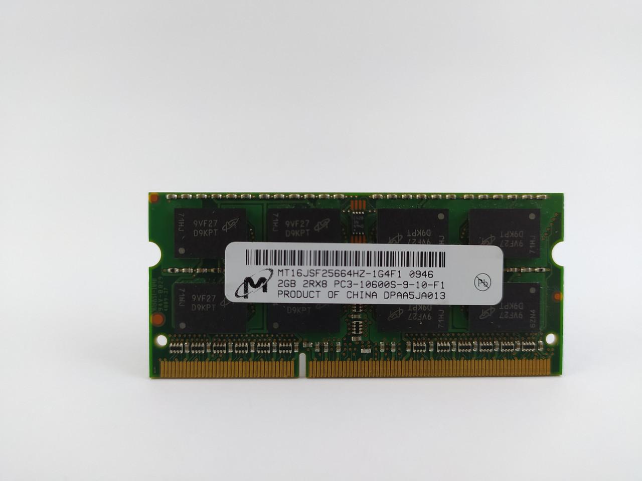 Оперативная память для ноутбука SODIMM Micron DDR3 2Gb 1333MHz PC3-10600S (MT16JSF25664HZ-1G4F1) Б/У