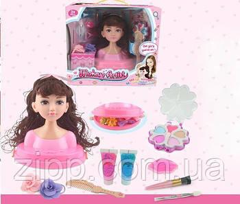 Голова-манекен ляльки для зачісок і макіяжу з аксесуарами