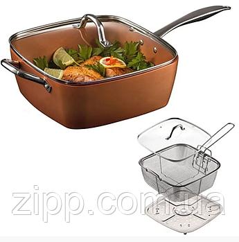 Сковорода універсальна Copper cook deep square pan