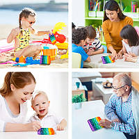 ✨ Нова іграшка антистрес POP IT ANTYSTRESOWYCH PUSH BUBBLE POP, Вічні бульбашки для дітей і дорослих ✨, фото 1