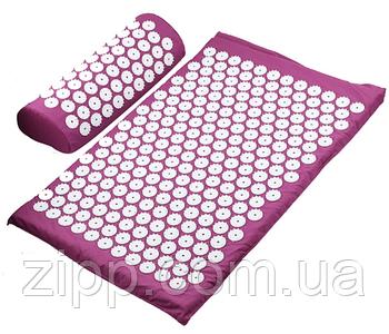 Ортопедичний килимок масажний | акупунктурний | Килимок з шипами | масажний килимок рожевий