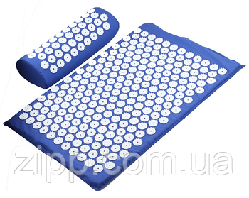 Ортопедичний килимок масажний | акупунктурний | Килимок з шипами | масажний килимок синій