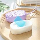 Мочалка масажна Bath Brush| Двостороння силіконова мочалка| Мочалка для тіла| Мочалка масажна, фото 2