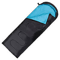 Спальний мішок (спальник) ковдра SportVida SV-CC0062 +2 ...+ 21°C R Black/Sky Blue