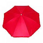 Зонт пляжний з срібним напиленням, пластикові спиці, діаметр 2м., Червоний, фото 3