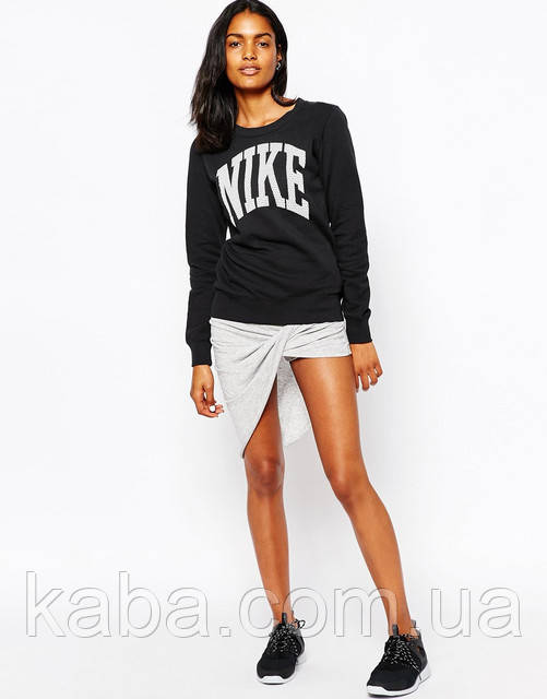 """Жіночий Світшот Nike Найк Кофта ( Чорний ) """""""" В стилі Nike """""""" утеплений"""