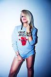 """Жіночий Світшот Чикаго буллз CHICAGO BULLS Кофта ( Блакитний ) """""""" ТОП Репліка """""""", фото 2"""