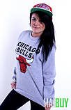 """Жіночий Світшот Чикаго буллз CHICAGO BULLS Кофта ( Блакитний ) """""""" ТОП Репліка """""""", фото 4"""