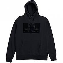Худи Weekend Offender черное с логотипом, унисекс Толстовка утепленная