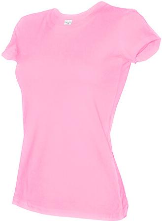 Футболка женская приталенная без логотипов и надписей ( Розовая) хлопок