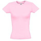 Футболка женская приталенная без логотипов и надписей ( Розовая) хлопок, фото 2