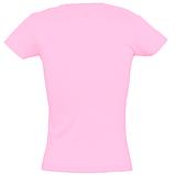 Футболка женская приталенная без логотипов и надписей ( Розовая) хлопок, фото 3