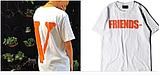 Футболка Friends Tee V Lone Біла чоловіча, фото 2