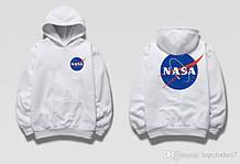 Худи NASA Two-Sided белое, унисекс