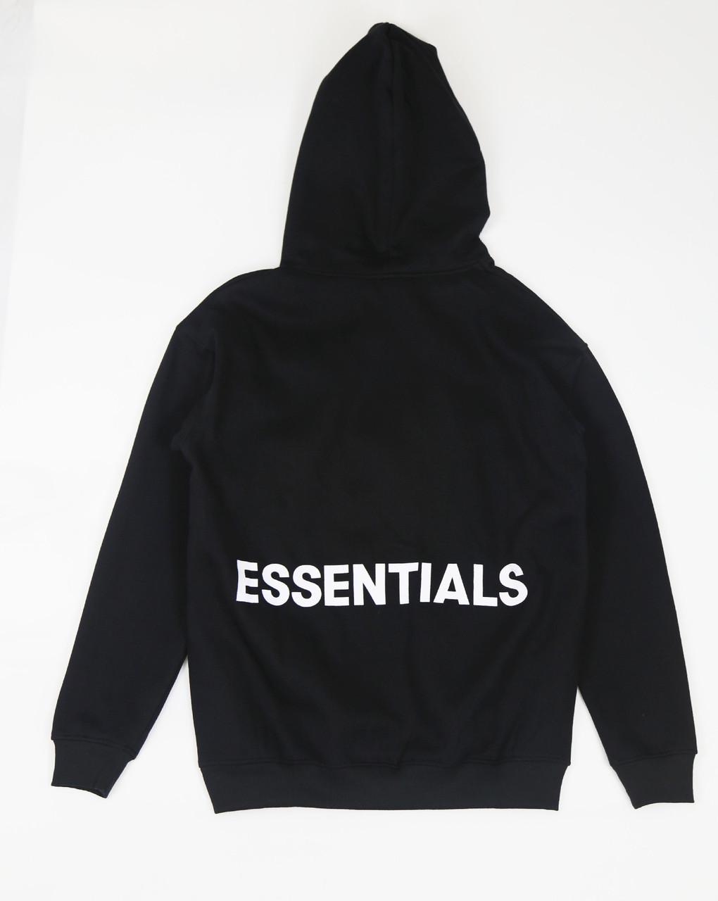 Чорне худі Fear Of God Essentials Logo, унісекс