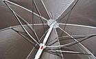 Зонт пляжный со спицей ромашка и серебряным напылением, диаметр 2м., Красный, фото 5