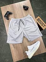 Шорты мужские трикотажные летние светло-серые спортивные бриджи