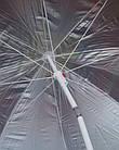 Зонт пляжний з нахилом і срібним напиленням, діаметр 2,2 м, Зелений, фото 10