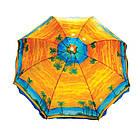 Зонт пляжний з срібним напиленням, пластикові спиці, діаметр 2,2 м., Пальма, фото 4