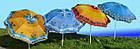 Зонт пляжний з срібним напиленням, пластикові спиці, діаметр 2,2 м., Пальма, фото 5