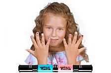 Детский лак-карандаш для ногтей Malinos Creative Nails на водной основе (2 цвета Сочный голубой + Нюд)