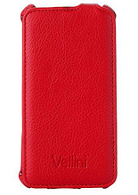 Кожаный чехол флип  для HTC Desire 616 красный