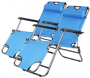 Комплект шезлонгів Bonro 178 см блакитний (2 шт) (70000206)