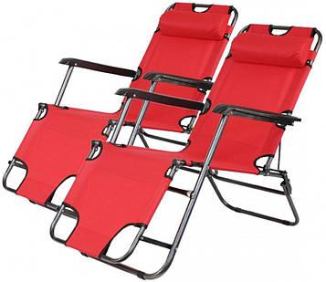Комплект шезлонгів Bonro 178 см червоний (2 шт) (70000209)