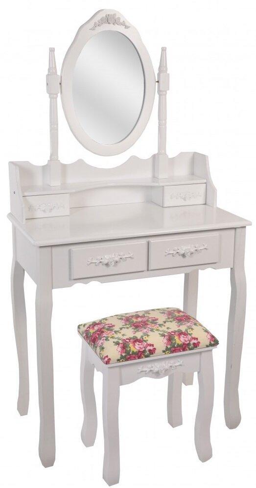Туалетний столик Bonro-В-011 (червона табуретка) (20000032)