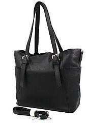 Жіноча шкіряна сумка з двома ручками Borsacomoda чорний