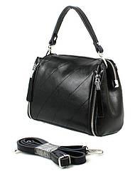 Невелика шкіряна жіноча сумка Borsacomoda, Україна чорна