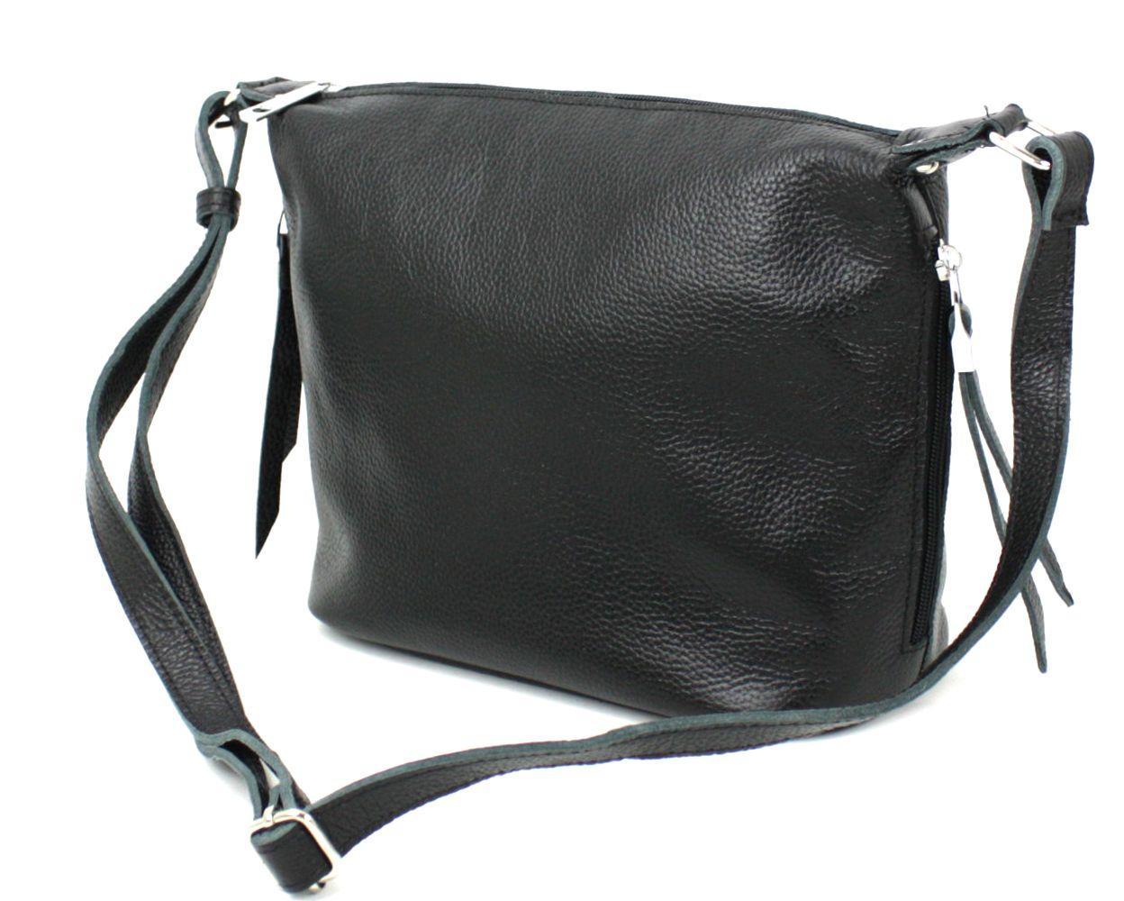 Кожаная женская сумка через плечо Borsacomoda черная 809.023