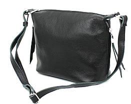 Шкіряна сумка через плече Borsacomoda чорна 809.023