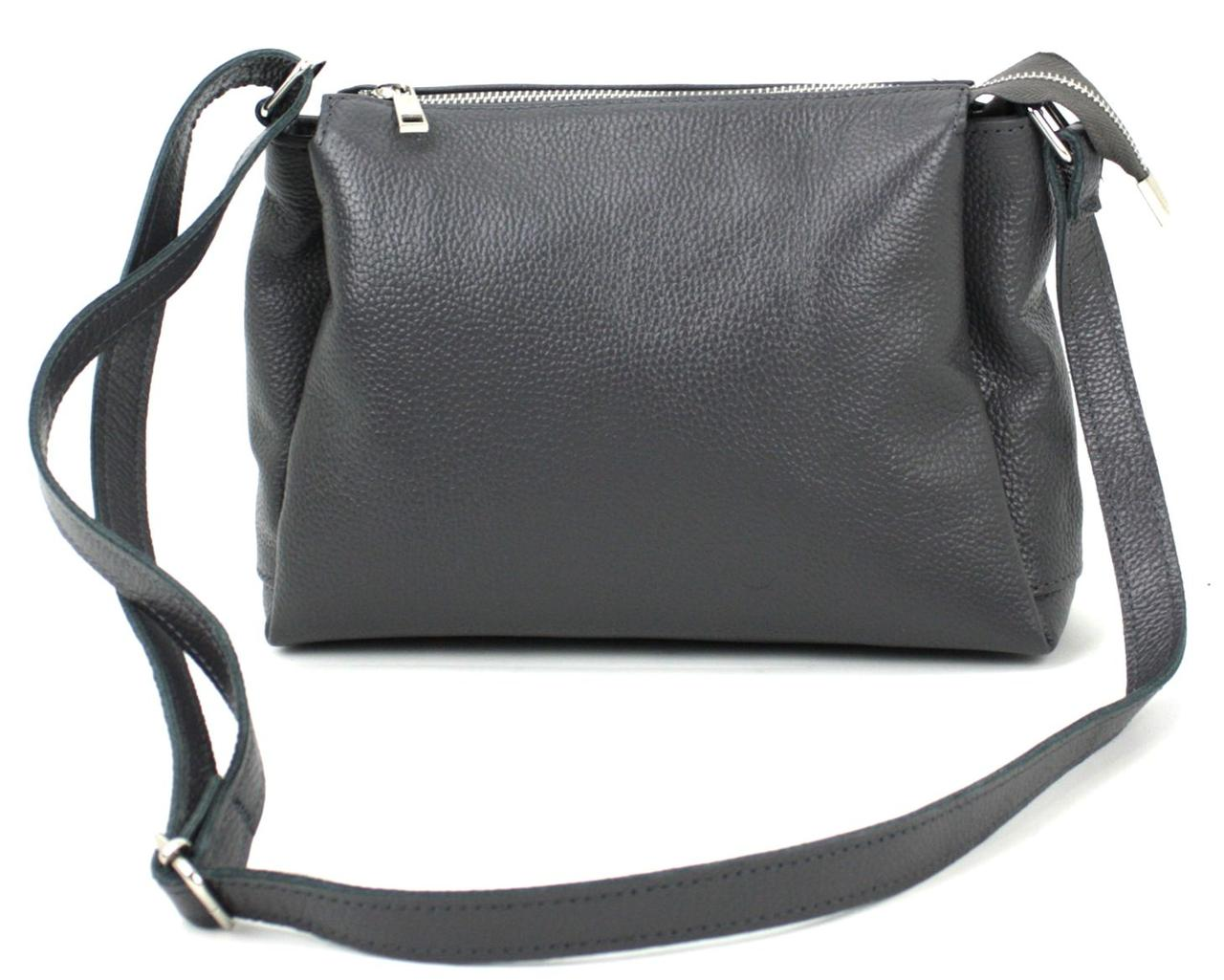 Жіноча шкіряна сумка Borsacomoda сірий