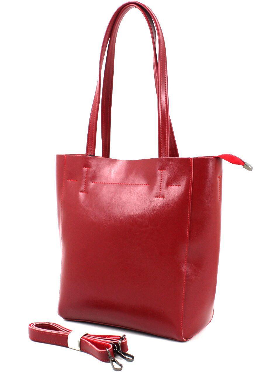 Жіноча шкіряна сумка Borsacomoda, червона Україна