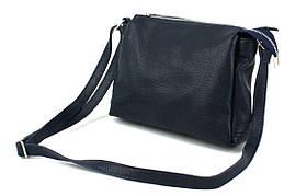 Жіноча шкіряна сумка на плече Borsacomoda темно синя