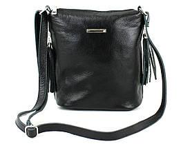Жіноча шкіряна сумка через плече Borsacomoda чорна